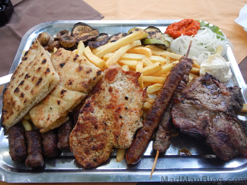 Meal in Bosnia