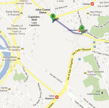 Rome Google Map – foot tour day 3 – MadManBlog