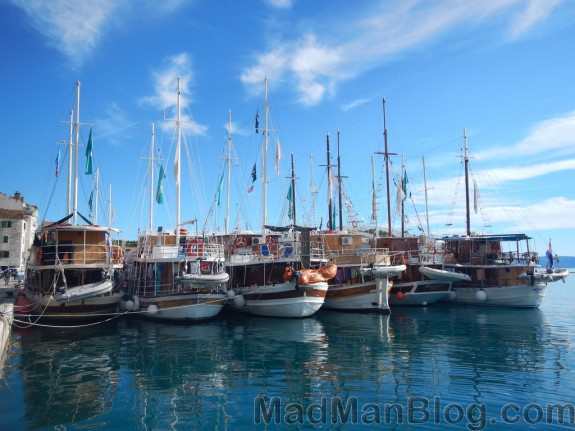 Croatia Sailing Boats Docked