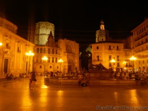 Valencia Square at Night