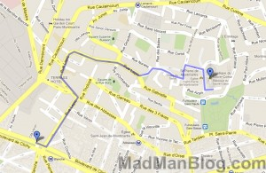 Google Map - Moulin Rouge to Montmartre Walk
