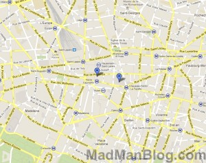 Google Map - Printemps and Galeries Lafayette Markers